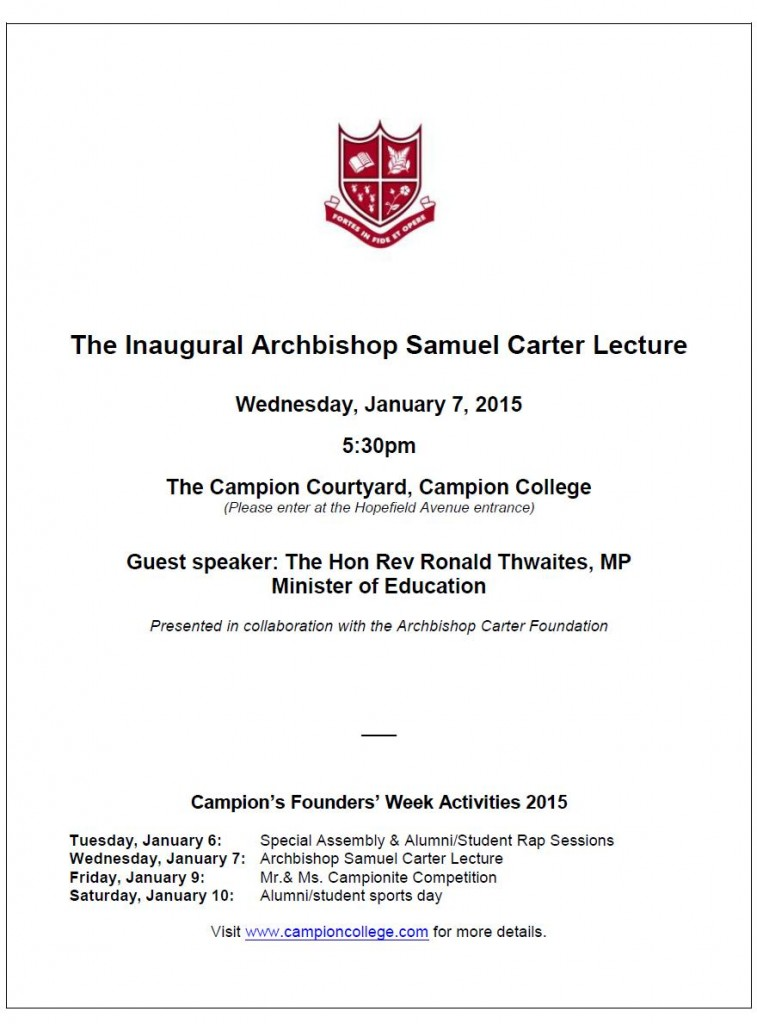 Carter Lecture